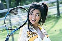 Tennis Girl Pim Pimpilai Strips During Practise