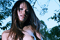 Tao Thatip Strips Black Lingerie And Bares Her Small Breasts