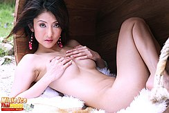 Naked Inside Tub Hands On Her Breasts