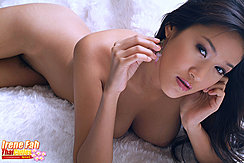 Irene Fah Naked On Bed Playing With Her Earrings Big Breasts Hanging Down