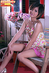 Seated Wearing Dress Short Hair